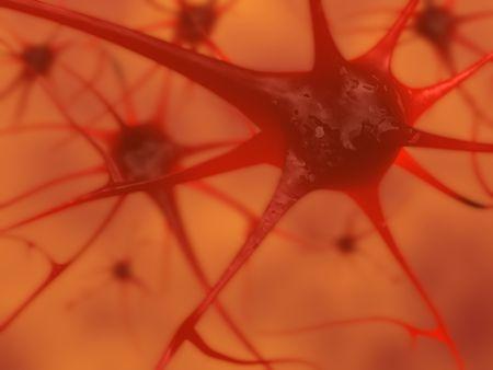 3D illustration of neurons in the brain illustration