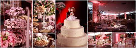 wedding cake: Collagem full of wedding sweets and cake