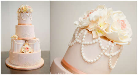 wedding cake: Simple and beautiful wedding cake