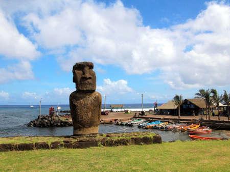 Isla de Pascua y las esculturas de caras