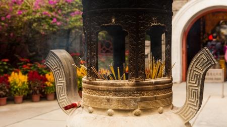 chinese incense urn photo