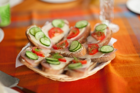 Handmade sandwiches photo