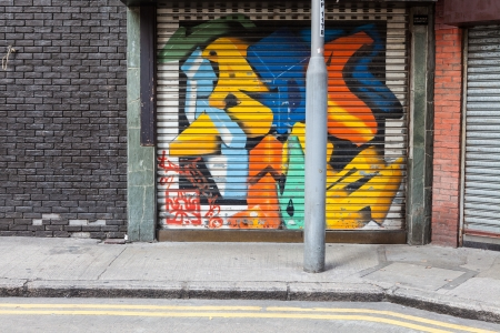 Empty street graffiti background photo