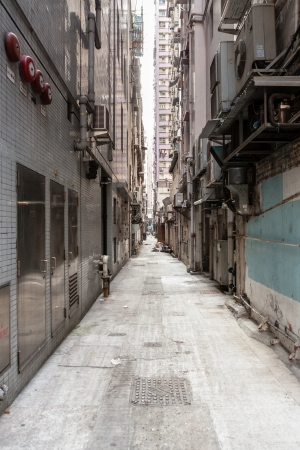 backstreet: Callej�n vac�o en hong kong Foto de archivo
