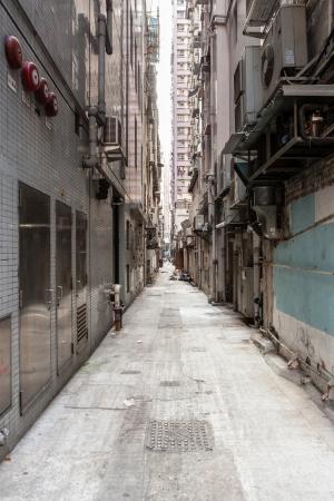 backstreet: Empty backstreet in hong kong Stock Photo