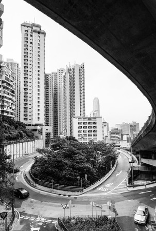 Unique view of hong kong central district photo