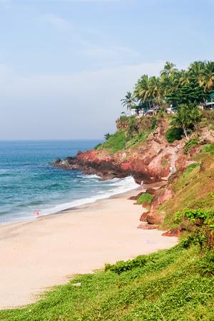 Cliffs at Varkala beach photo