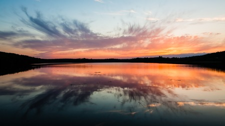 Colorful sunset reflection photo