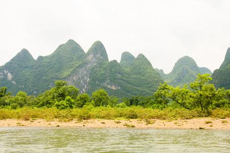 Li river landscape in china photo