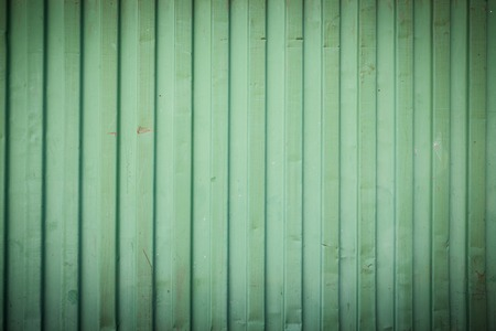 Green shipping container stripe pattern