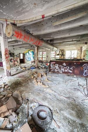 abandoned room: Abandoned factory room