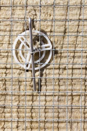 rockwool: Rock-wool insulation installed