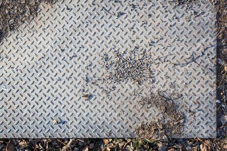 Dirty industrial grip floor texture photo