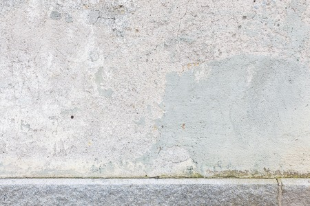 worn: Worn old painted concrete wall