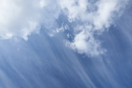 cirrus: Long cirrus clouds skyscape