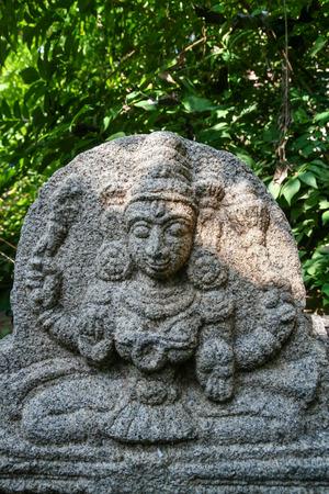 vishnu: Vishnu stone statue at hampi ruins