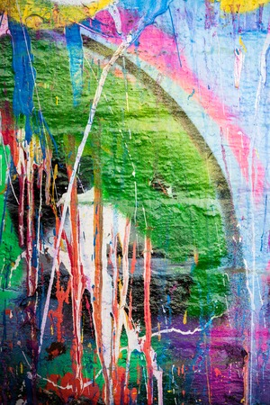 dripping paint: Dripping paint graffiti wall
