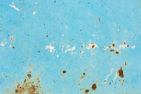 urban decay: Blue rusty metallic texture background