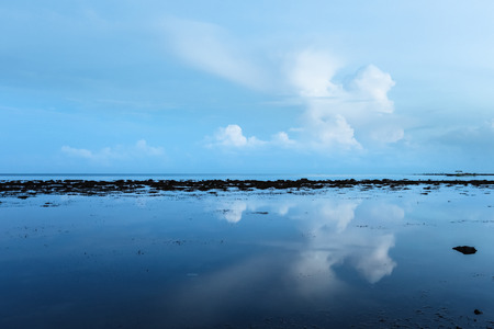 liquid reflect: Low tide and early dawn indonesia
