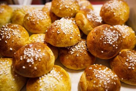 Delicious finnish sugar buns Banque d'images