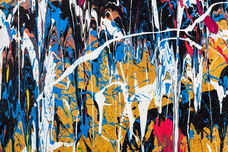 grafitis: el goteo de pintura la pared de graffiti cerca