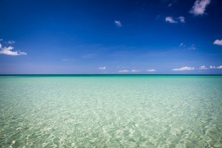 Paradise sand beach on sunny day malaysia tip of borneo Stock Photo