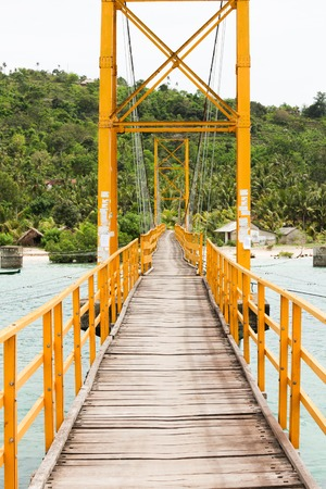 nusa: Small bridge in indonesia between nusa lembongan and nusa ceningan