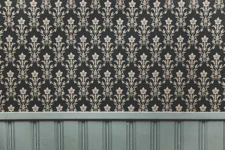 baroque room: Vintage ornament wallpaper background wall Stock Photo