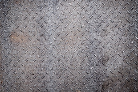 metal grid: Dirty metal diamond grip pattern texture