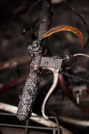 quemado: Bicicletas quemado detalle manillar