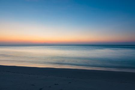 seascape: Minimalistic seascape at twilight long exposure