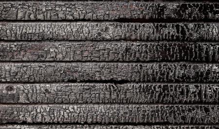 Burnt broken wood wall background texture Banque d'images