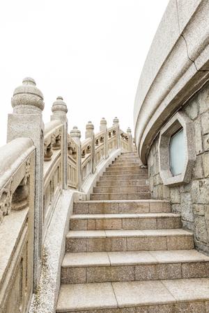 Stone wandelpad rond grote Tian Tan Boeddha hong kong Stockfoto