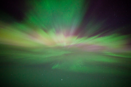 zenith: Northern lights corona above in the sky Stock Photo