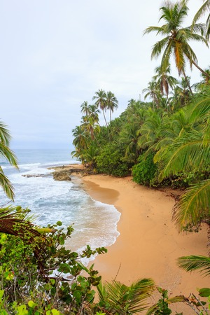 Idyllic beach at Manzanillo Costa Rica