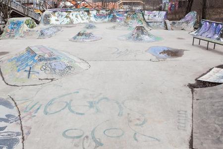 selfmade: Small self-made concrete skateboarding park
