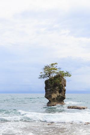 Rock formation at Manzanillo Costa Rica Stock Photo