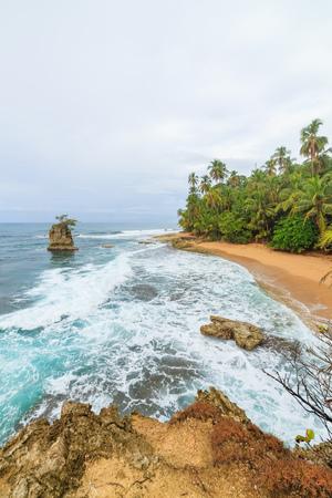 playa: Idyllic beach Manzanillo Costa Rica Stock Photo