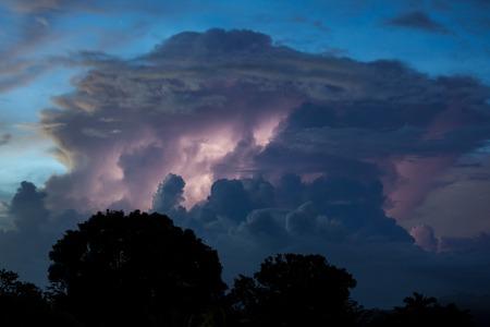 wheater: Thundercloud illuminated by lightning