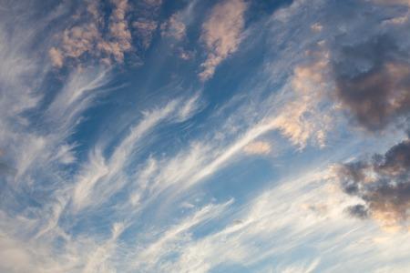 Cirrus clouds sky scape
