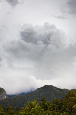 Stormy cloud in gunung mulu national park Malaysia Stock Photo