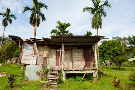 Small countryside village building in borneo Malaysia Stock Photo