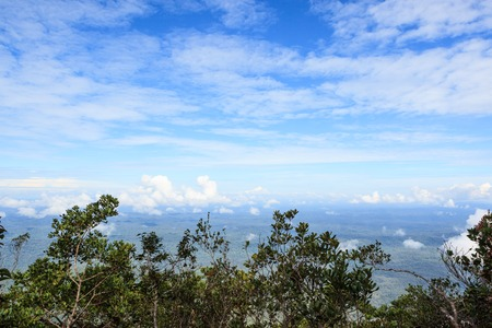Borneo landscape view from mount api in gunung mulu national park Stock Photo