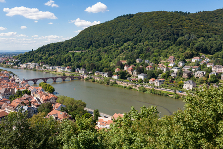 Heidelberg city in Germany at sunny summer day 版權商用圖片
