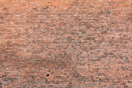 Oude slordige van de bakstenen muurtextuur buitenkant als achtergrond