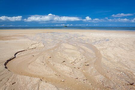 Low tide in beach sunny day borneo malaysia landscape