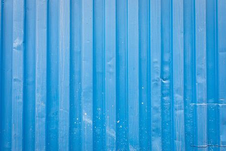 Blue shipping container wall texture background Reklamní fotografie