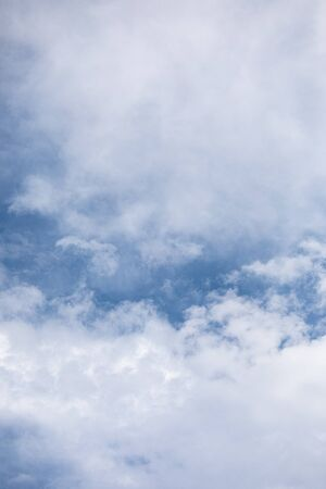 Cloudscape and blue sky details at summer day Imagens