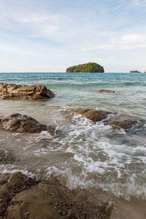 Kelambu beach near tip of Borneo Malaysia 写真素材