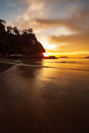 Beach landscape in Borneo Bako national park Malaysia 版權商用圖片